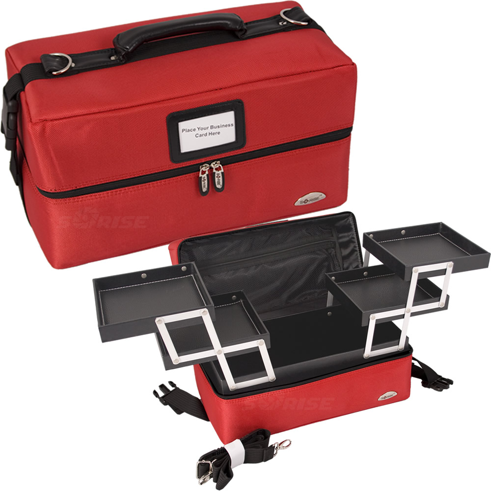Red Soft Sided Makeup Case