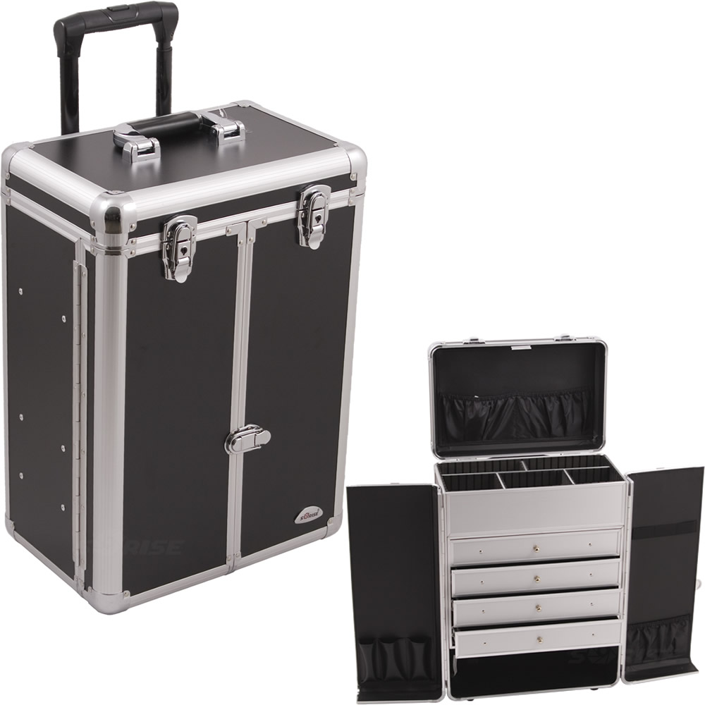 Black Smooth Rolling Case