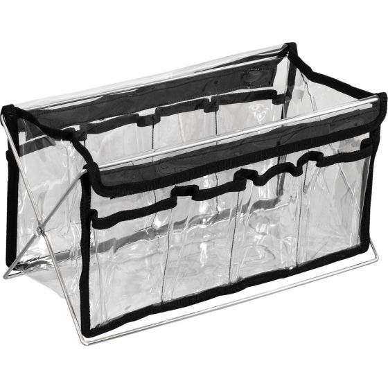 Clear PVC Cosmetic Bag Stand