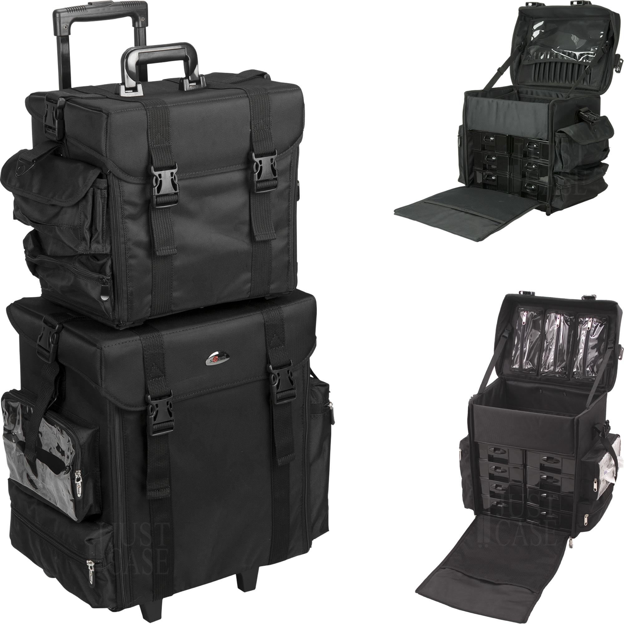 Black Trolley Makeup Case